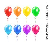 set of colored balloons with... | Shutterstock .eps vector #183320447
