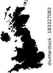 united kingdom vector map | Shutterstock .eps vector #183327083