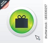 gift box sign icon. present...