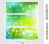 set summer banners abstract... | Shutterstock .eps vector #183338153
