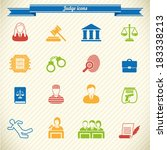 law and justice icon set  | Shutterstock .eps vector #183338213