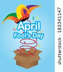 April fool's day sign with jester hat
