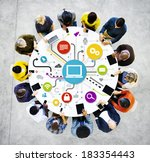 group of multi ethnic people... | Shutterstock . vector #183354443