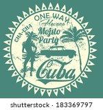 havana cuba vector art   Shutterstock .eps vector #183369797