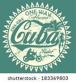 havana cuba vector art | Shutterstock .eps vector #183369803