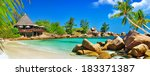luxury tropical holidays  ... | Shutterstock . vector #183371387