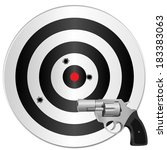 a revolver and a target with... | Shutterstock . vector #183383063