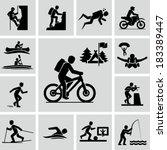 Outdoor activities  | Shutterstock vector #183389447