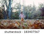 very cheerful child having fun... | Shutterstock . vector #183407567