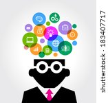 business brain | Shutterstock .eps vector #183407717
