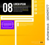 vector layout template on... | Shutterstock .eps vector #183409577