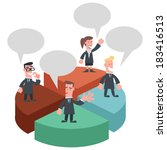 business team standing on the... | Shutterstock .eps vector #183416513