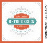 retro typographic design... | Shutterstock .eps vector #183416897