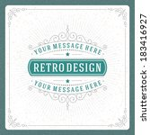 retro typographic design... | Shutterstock .eps vector #183416927