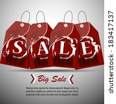 sale price tags vector... | Shutterstock .eps vector #183417137