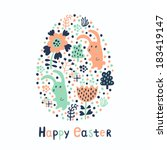 easter card. vector... | Shutterstock .eps vector #183419147