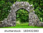 Old Stone Entrance Wall In...