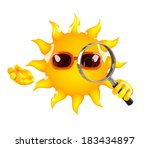 3d render of sun with a... | Shutterstock . vector #183434897