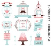 vintage collection of vector...   Shutterstock .eps vector #183480143