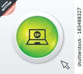 adults content laptop sign icon....