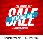 Stock vector memorial day sale design template 183491303
