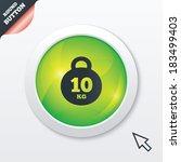 weight sign icon. 10 kilogram ...