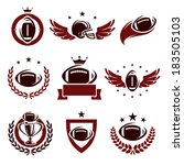 football labels and icons set.... | Shutterstock .eps vector #183505103