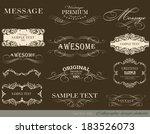 calligraphic design elements... | Shutterstock .eps vector #183526073