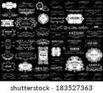 set of calligraphic and floral... | Shutterstock .eps vector #183527363