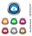 upload to cloud buttons. vector ... | Shutterstock . vector #183532247