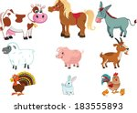 farm animals | Shutterstock .eps vector #183555893
