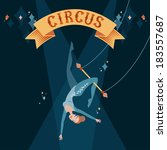 circus show illustration.... | Shutterstock .eps vector #183557687
