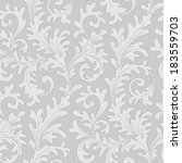 elegant baroque floral seamless ... | Shutterstock .eps vector #183559703
