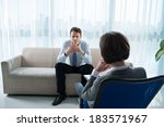 business patient talking about... | Shutterstock . vector #183571967