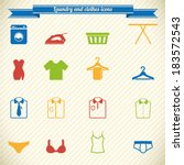 clothes and laundry icons in... | Shutterstock .eps vector #183572543