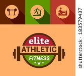 flat fitness and sport design... | Shutterstock .eps vector #183579437