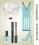 fashion set from a female ... | Shutterstock . vector #183596513