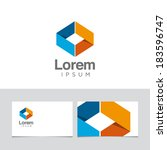 icon design element with... | Shutterstock .eps vector #183596747