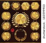 golden anniversary medallion...   Shutterstock .eps vector #183599903