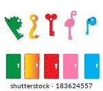 children toys in funny keys... | Shutterstock .eps vector #183624557