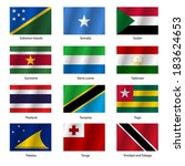 set  flags of world sovereign... | Shutterstock .eps vector #183624653