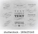 typography  calligraphic design ... | Shutterstock . vector #183625163