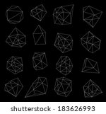 abstract modern  polygonal...   Shutterstock . vector #183626993