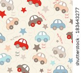 seamless background with cars ... | Shutterstock .eps vector #183643277
