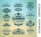 summer holidays design elements ... | Shutterstock .eps vector #183648113