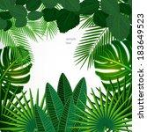 tropical leaves. floral design... | Shutterstock .eps vector #183649523