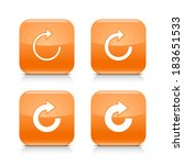 4 white arrow orange icon