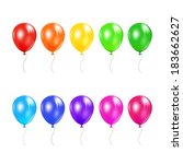 set of colored balloons... | Shutterstock . vector #183662627