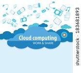 flat concept of cloud computing ...
