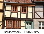 half timbered house in... | Shutterstock . vector #183682097